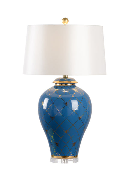 Shayla Copas Designs Ginger Jar Lamp with Acrylic Base - Blue 69767