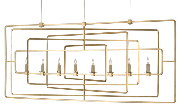Currey and Company Metro Rectangular Chandelier 9542