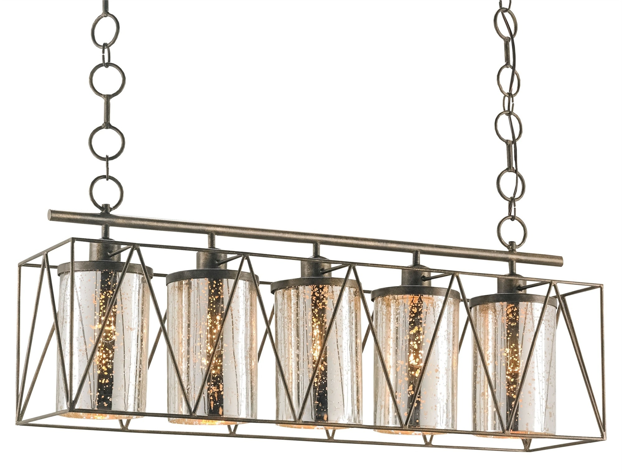 Currey and Company Marmande Rectangular Chandelier 9564