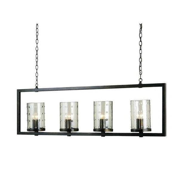 Currey and Company Longhope Rectangular Chandelier 9742
