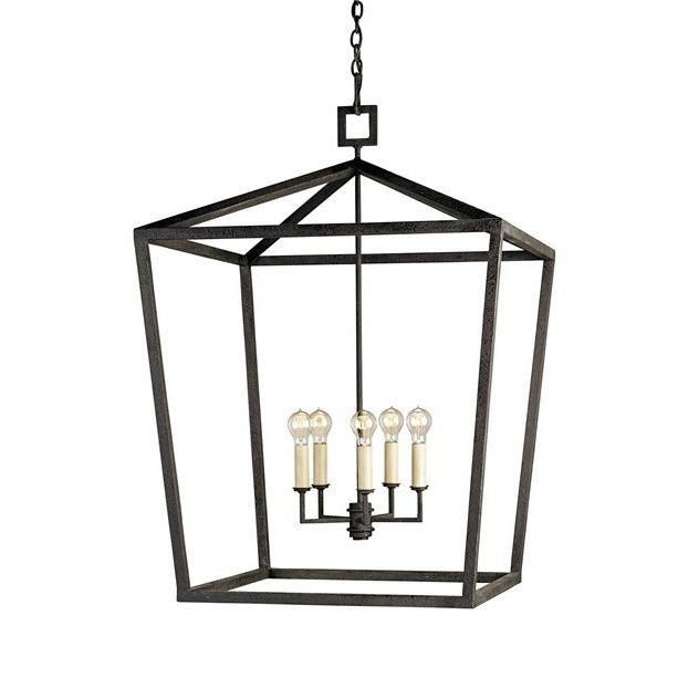 Currey and Company Denison Lantern, Large 9871 - LOVECUP - 1