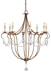 Currey and Company Crystal Light Chandelier 9881 - LOVECUP