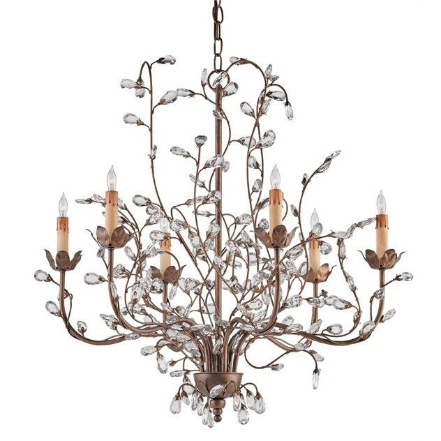 Currey and Company Crystal Bud Chandelier, Medium 9882 - LOVECUP