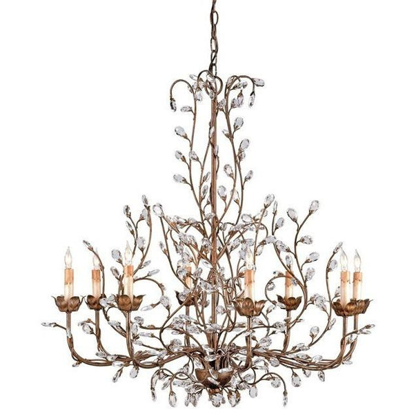 Currey and Company Crystal Bud Chandelier, Large 9884