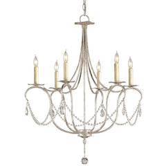 Currey and Company Crystal Lights Silver Small Chandelier 9890 - LOVECUP