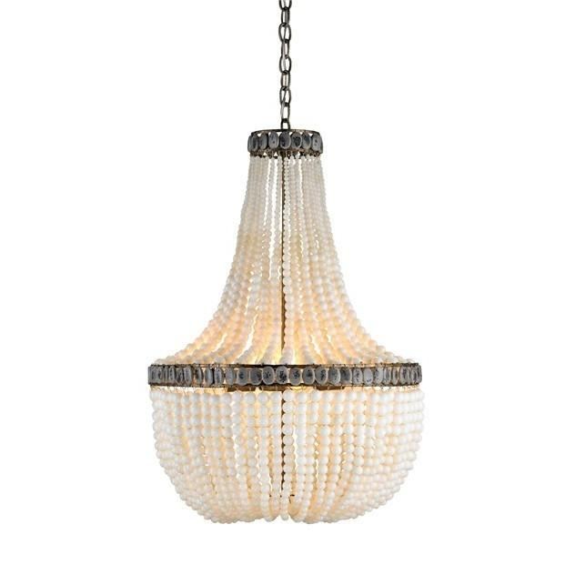 Currey and Company Hedy Chandelier, Cream - LOVECUP - 1