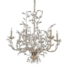 Currey and Company Crystal Bud Chandelier, Medium Silver 9973 - LOVECUP