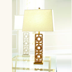 Chelsea House Squares In Squares Table Lamp 68559