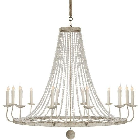 Aidan Gray Naples Chandelier, Large White L430