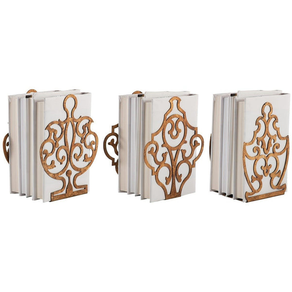 Aidan Gray Crest, Urn, and Shield Bookend Set of 3