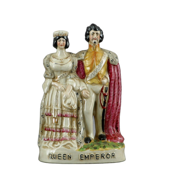 Staffordshire Queen & Emperor Figures Reproduction