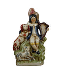 Staffordshire Harpist with Spaniel Dog Reproduction