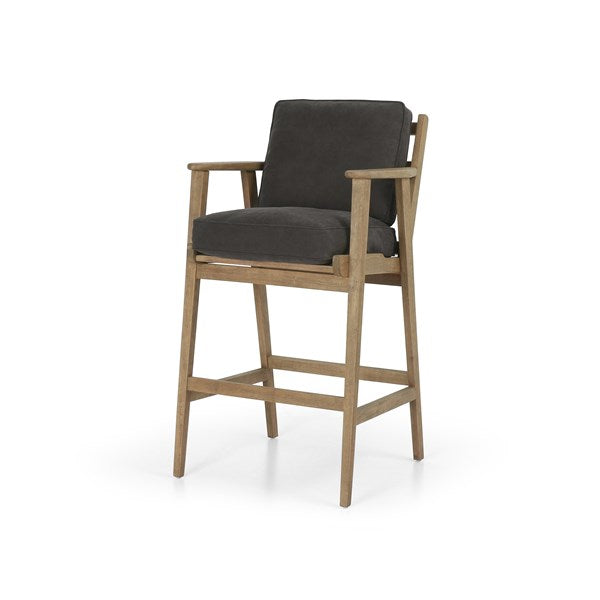 Adirondack Bar-Style Bar Stool with Stone Washed Canvaas L8H9