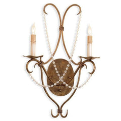 Currey and Company Crystal Lights Wall Sconce Gold 5880 - LOVECUP