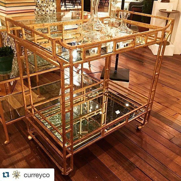 Currey and Company Odeon Bar Cart 4217 - LOVECUP - 2