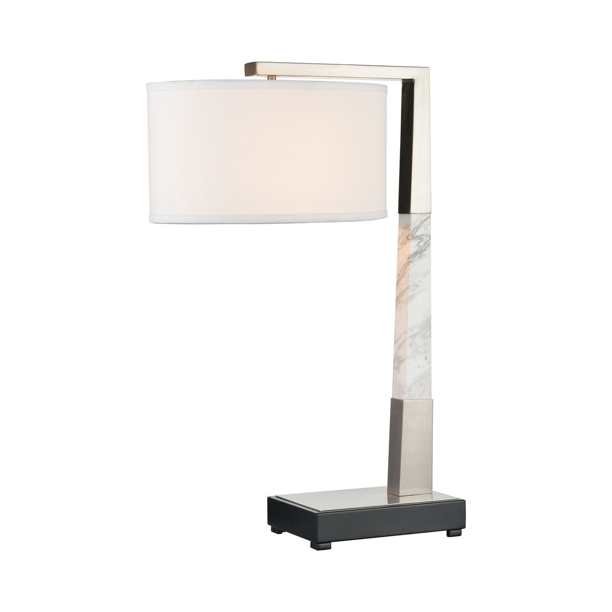 Lovecup LUXE TABLE LAMP IN BRUSHED NICKEL WITH USB CHARGING PORT L504