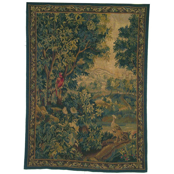 "58"" x 77"" Hand woven aubusson tapestry with backing and rod pocket. LT06"