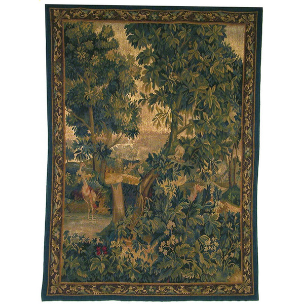 "58"" x 77"" Hand woven aubusson tapestry with backing and rod pocket. LT07"