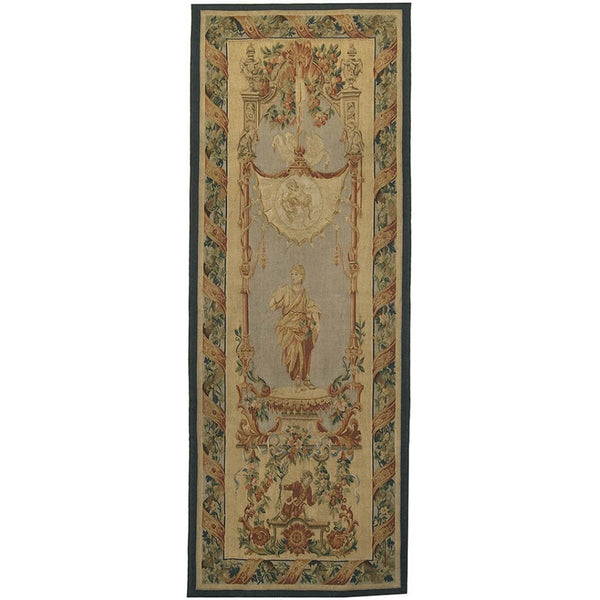 "29"" x 76"" Hand woven aubusson tapestry with backing and rod pocket LT22"