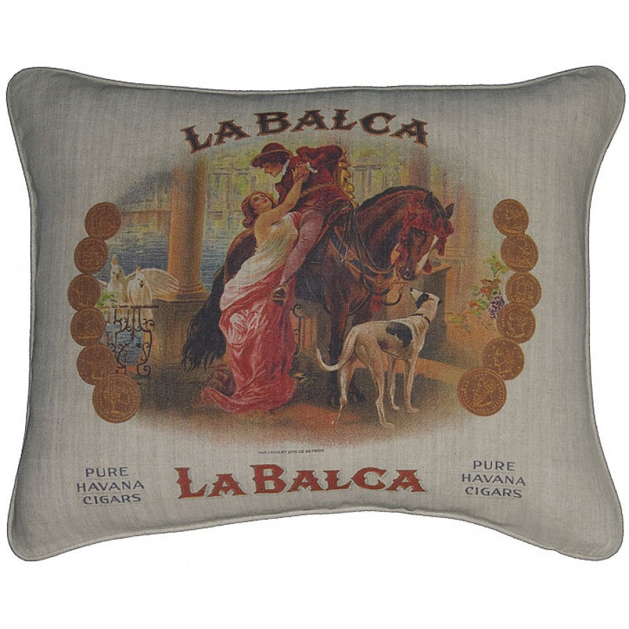 Lovecup Printed Linen Pillow 20in X 16in (WxH) LP07