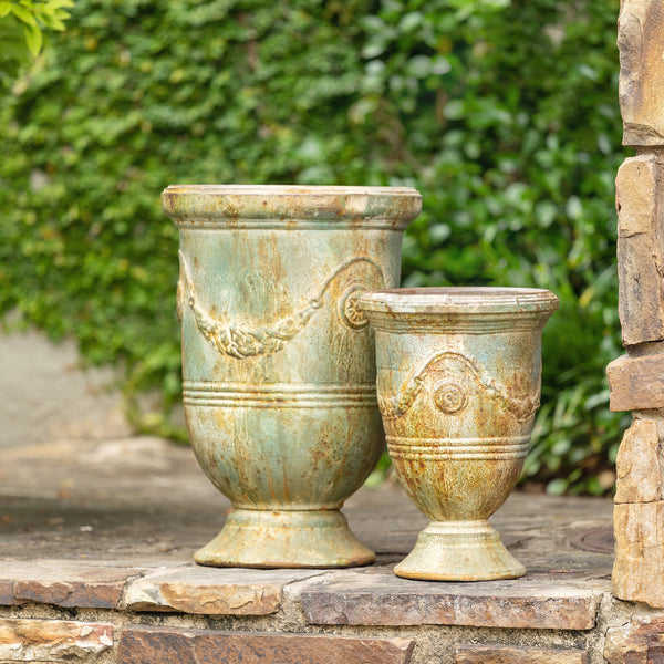 French inspired Faux Pottery Planters L841