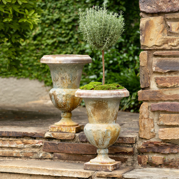 Lovecup French Inspired Aged Mantel Urn, Set of 2 L974