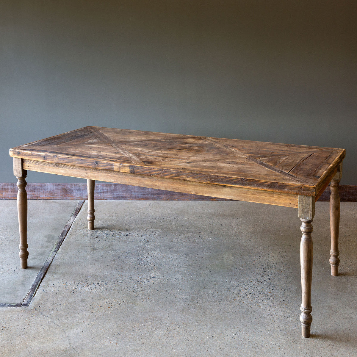 Lovecup Reclaimed Wood Farm Dining Table L991