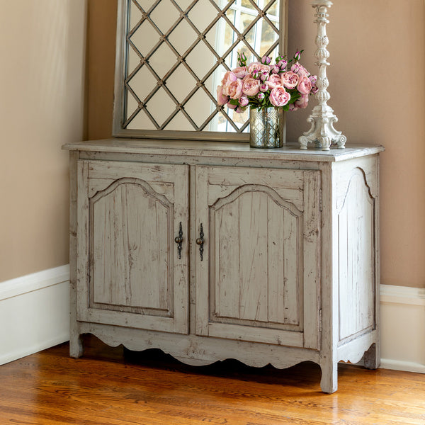 Lovecup Aged Gray Painted Sideboard L1610