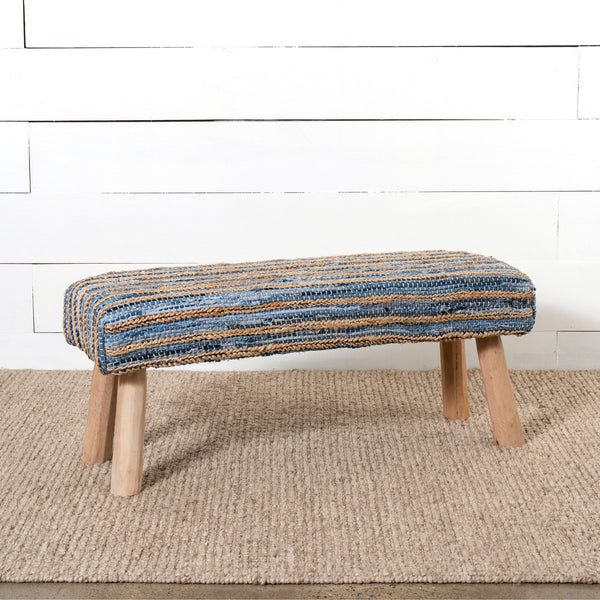 Lovecup Hemp and Recycled Denim Bench L186