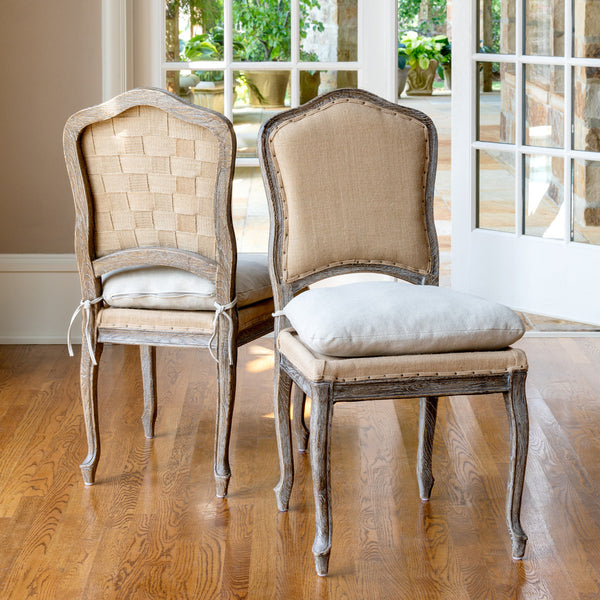 Lovecup French Country Antiqued Oak Dining Chair L693