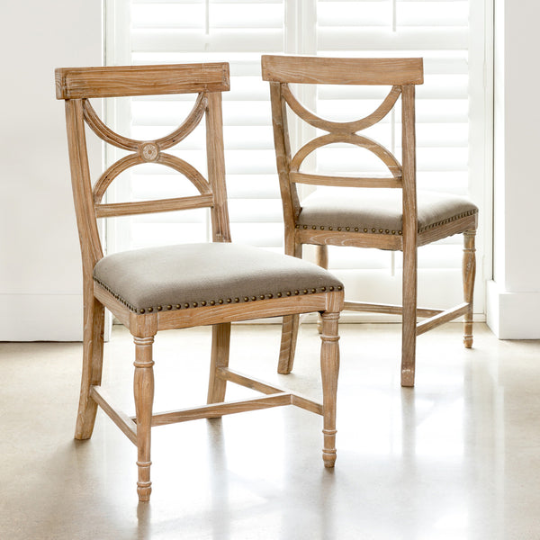 Lovecup Whitewashed Finish Old Elm Chair L952