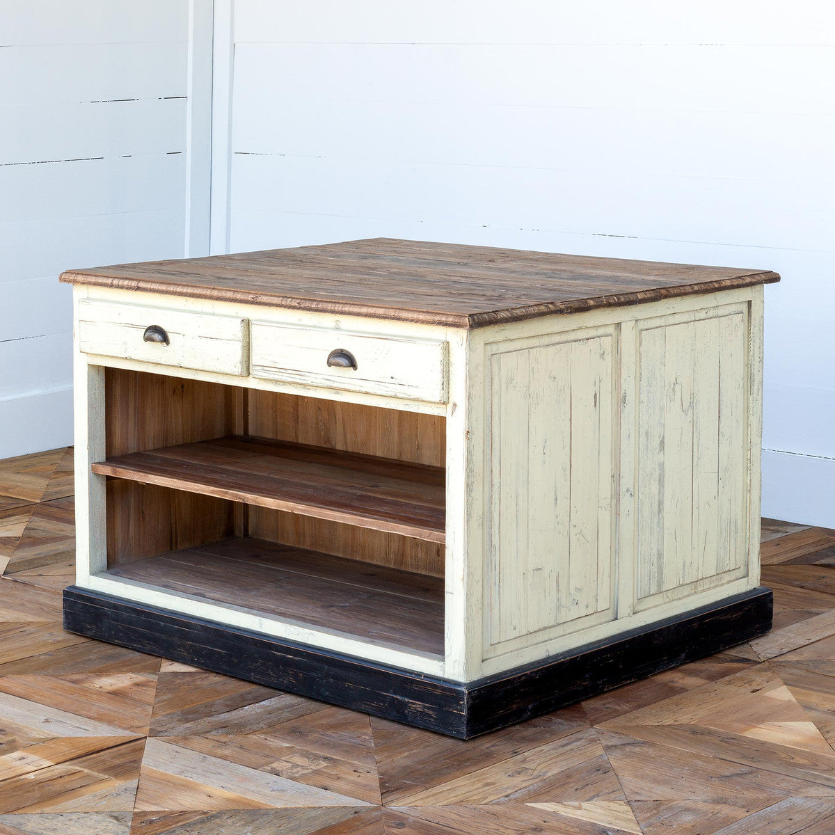 Lovecup Two Sided Kitchen Work Island with Drawers L909