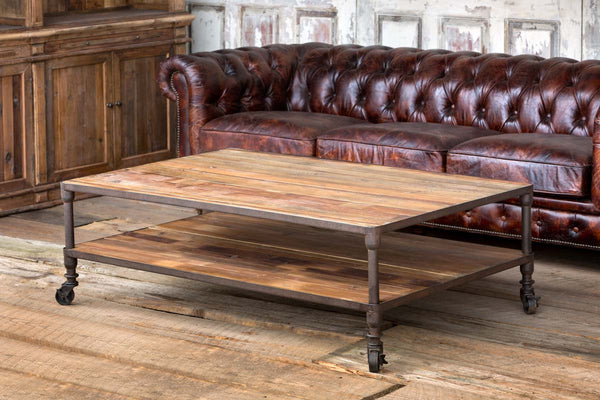 Lovecup Industrial Wood Coffee Table L630