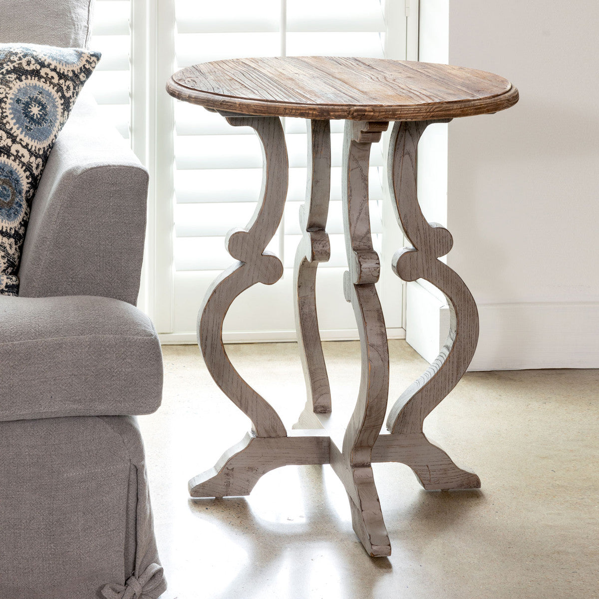 Lovecup Lindsey Table with Painted Base L585
