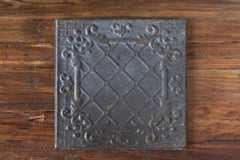 Lovecup Antique Black Tin Ceiling Tile, Set of 16 L922