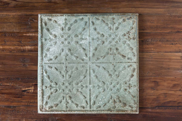 Lovecup Antique Green Tin Ceiling Tile, Set of 16 L924