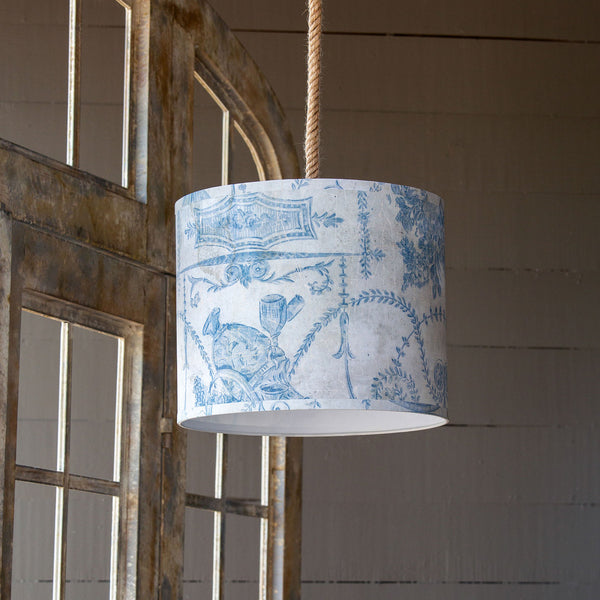 Lovecup French Blue Paper Shade Pendant Light L132