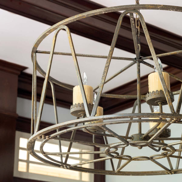Lovecup Metal Farmhouse Drum Chandelier L945