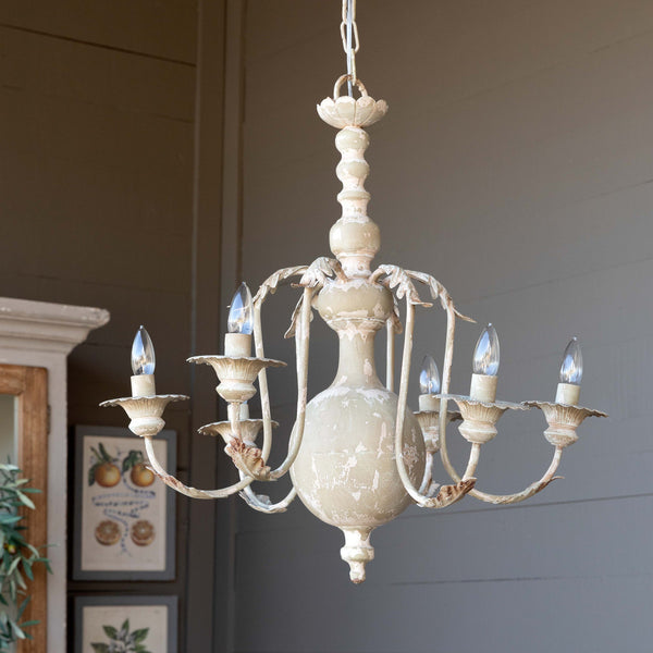 Lovecup Painted Farmhouse Chandelier L554