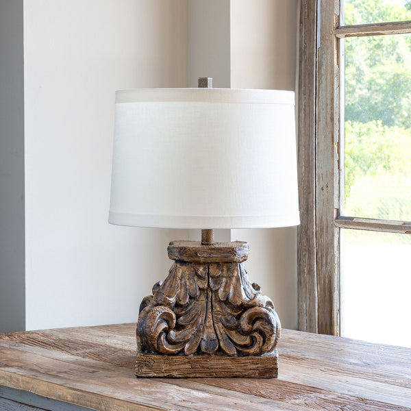 Lovecup Wood Look Table Lamp, Set of 2 L449