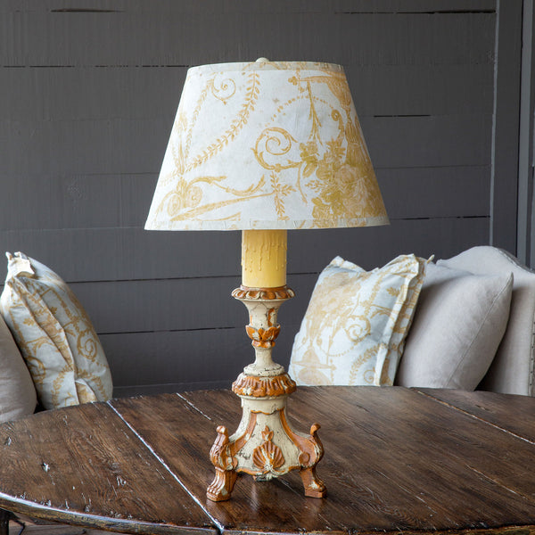 Lovecup Chandelle Table Lamp With French Yellow Paper Shade L130