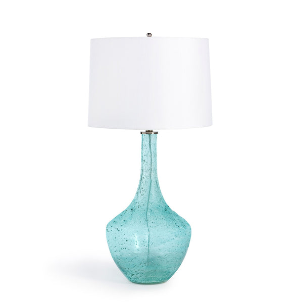 Lovecup Ocean Blue Seeded Glass Table Lamp L019