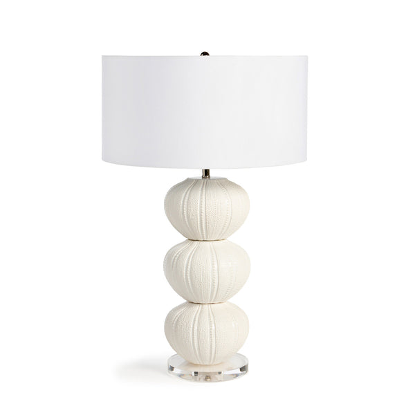 Lovecup White Ceramic Sea Urchin Table Lamp L022