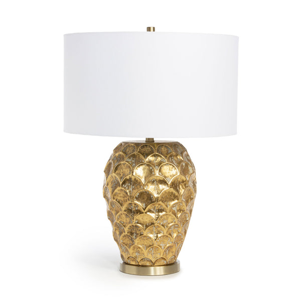 Lovecup Gold Scalloped Pattern Metal Table Lamp L024
