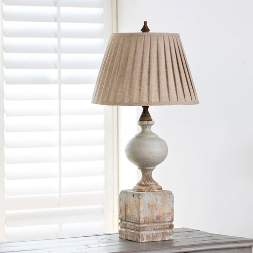 Lovecup Farmhouse Painted Post Table Lamp L085