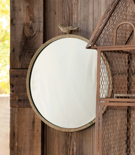 Lovecup Round Mirror with Bird L616