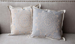 Lovecup Hill Down Filled Home Pillow in Weathered Blue, Set of 2 L252