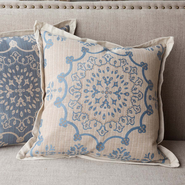 Lovecup Hill Down Filled Home Pillow in French Blue, Set of 2 L255