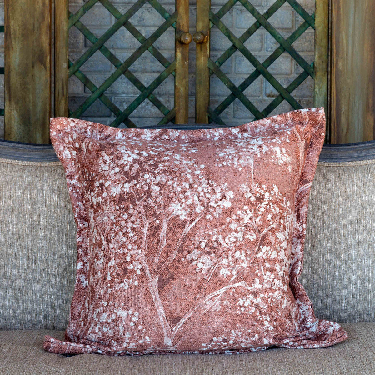 Lovecup Coral Hydrangea Pillow, Set of 2 L710