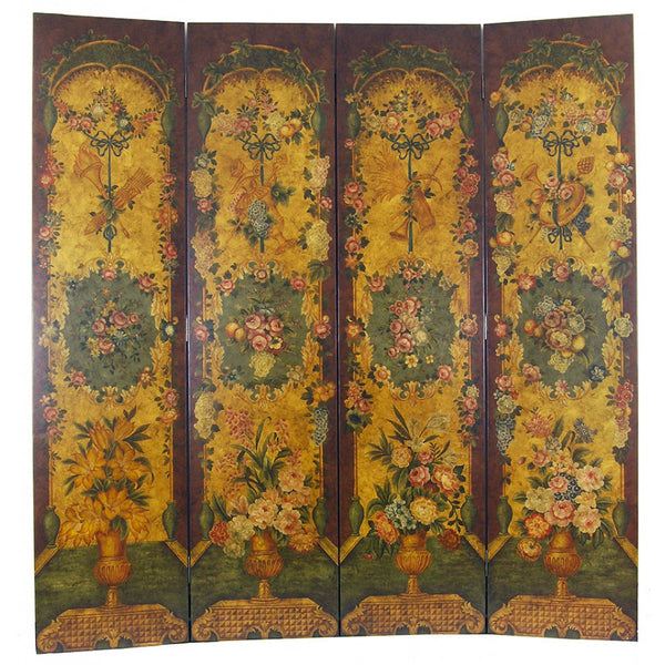 Lovecup Hand Painted Folding Room Divider 79in X 83in (WxH)